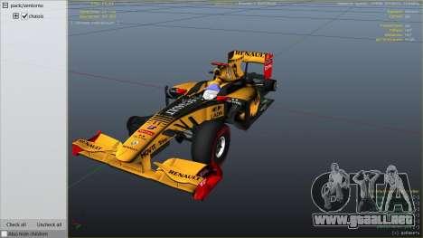 GTA 5 Renault F1 vista lateral derecha