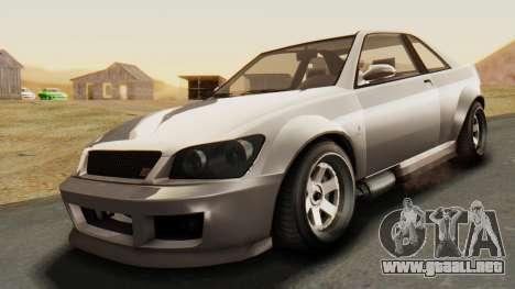 GTA 5 Karin Sultan RS para la visión correcta GTA San Andreas