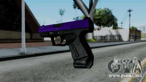 Purple Desert Eagle para GTA San Andreas segunda pantalla