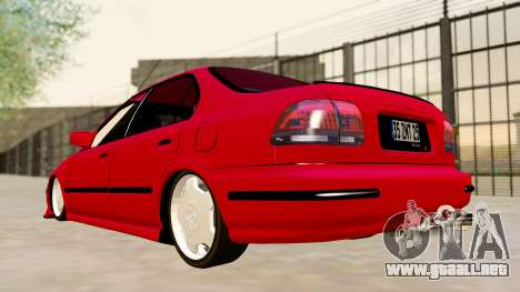 Honda Civic Sedan para GTA San Andreas left
