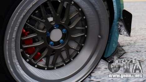 Nissan GT-R R35 Rocket Bunny v2 para GTA San Andreas vista hacia atrás
