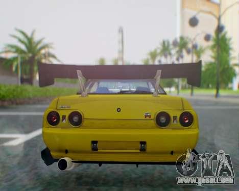 Nissan Skyline R32 GTR para GTA San Andreas vista posterior izquierda