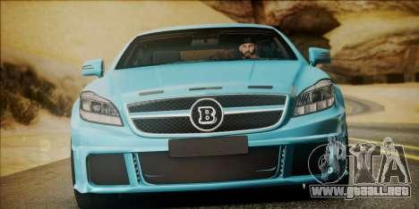 Mercedes-Benz CLS 63 BRABUS para la visión correcta GTA San Andreas