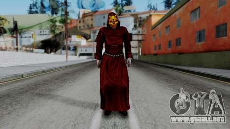 Monje Skull Gold Skin para GTA San Andreas segunda pantalla