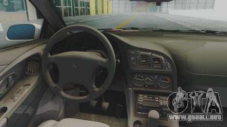 Mitsubishi Eclipse GST Nepgear Itasha para GTA San Andreas vista hacia atrás