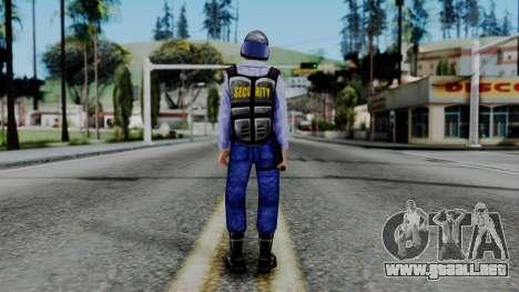 Barney Calhoun from Half Life Blue Shift para GTA San Andreas tercera pantalla