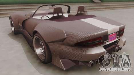 GTA 5 Bravado Banshee 900R Carbon para GTA San Andreas vista posterior izquierda