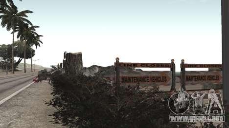 Road repair Los Santos - Las Venturas para GTA San Andreas segunda pantalla