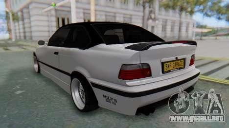 BMW 320i E36 MPower para GTA San Andreas vista posterior izquierda