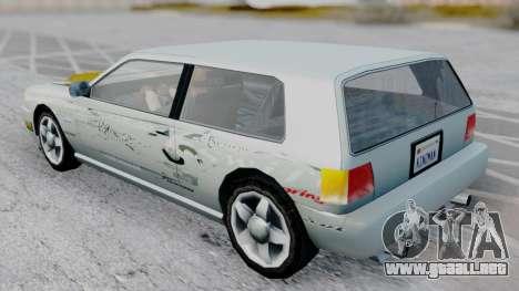 Flash F&F3 Silvia PJ para GTA San Andreas vista posterior izquierda
