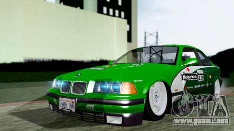 BMW M3 Coupe E36 (320i) 1997 para GTA San Andreas vista hacia atrás