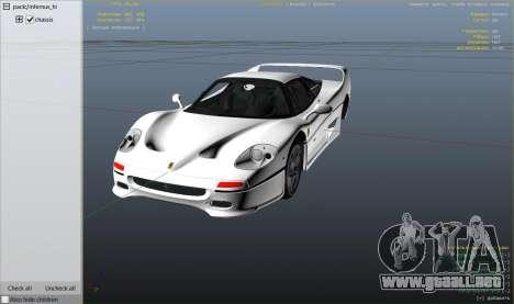 GTA 5 Ferrari F50 Autovista vista lateral derecha