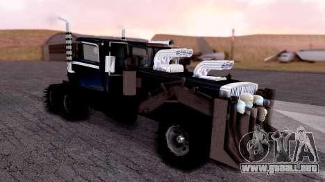 Mad Max The War Rig Bilge Tuning para GTA San Andreas vista posterior izquierda