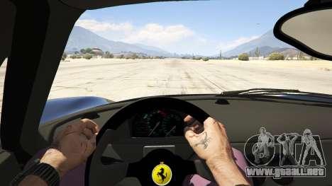 GTA 5 Ferrari F50 Autovista vista trasera