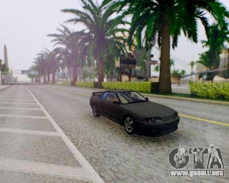 Nissan Skyline R32 GTR para GTA San Andreas vista hacia atrás