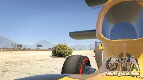 GTA 5 Renault F1 vista lateral trasera derecha