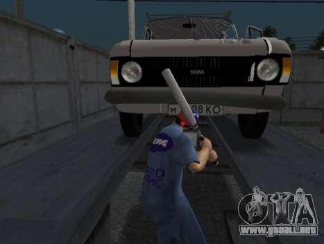 La piel del trabajador IZH de Reparación de auto para GTA San Andreas tercera pantalla