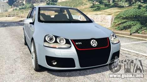 Volkswagen Golf Mk5 GTI 2006 v1.0 para GTA 5