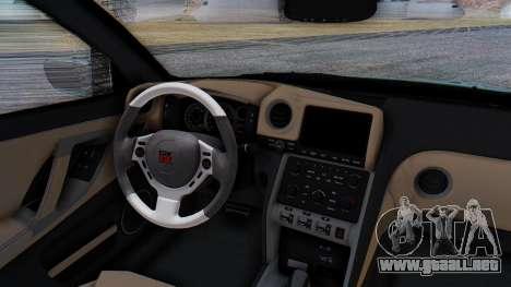 Nissan GT-R R35 Rocket Bunny v2 para vista lateral GTA San Andreas