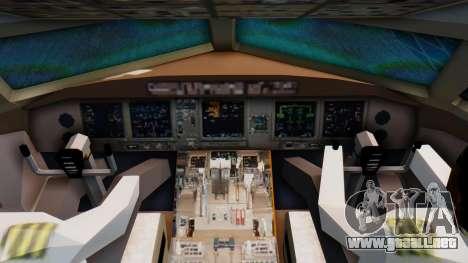 Boeing 777-200LR Delta Air Lines para la visión correcta GTA San Andreas