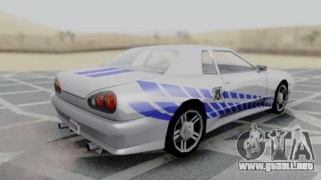 Elegy 2F2F Skyline PJ para GTA San Andreas left