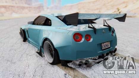 Nissan GT-R R35 Rocket Bunny v2 para GTA San Andreas left