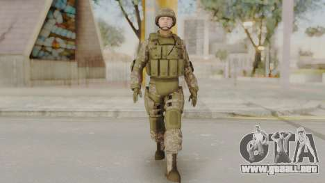 US Army Urban Soldier from Alpha Protocol para GTA San Andreas segunda pantalla