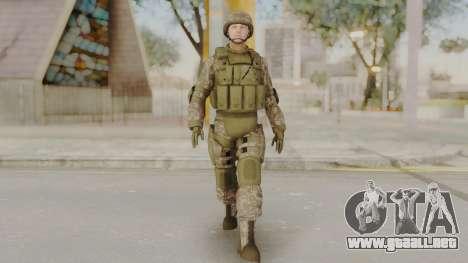 US Army Urban Soldier from Alpha Protocol para GTA San Andreas segunda pantalla