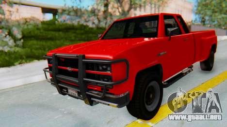 GTA 5 Vapid Bobcat XL para la visión correcta GTA San Andreas
