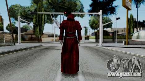 Monje Skull Gold Skin para GTA San Andreas tercera pantalla