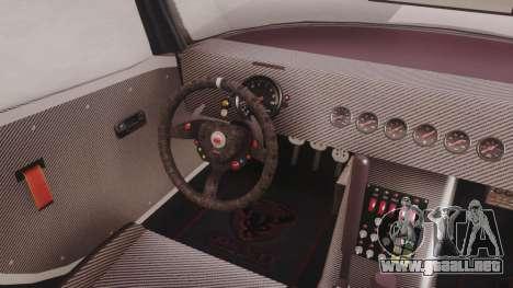 GTA 5 Bravado Banshee 900R Carbon para GTA San Andreas vista hacia atrás