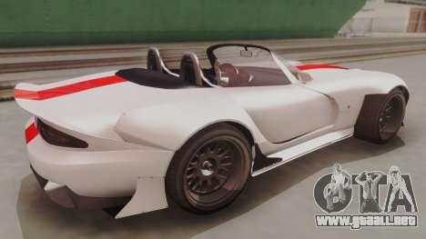 GTA 5 Bravado Banshee 900R IVF para GTA San Andreas vista posterior izquierda