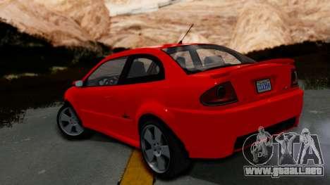 GTA 5 Declasse Premier Coupe IVF para GTA San Andreas left