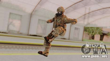 US Army Multicam Soldier Gas Mask from Alpha Pro para GTA San Andreas segunda pantalla