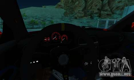 Subaru Impreza WRX STi LP 400 para visión interna GTA San Andreas