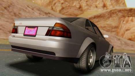 GTA 5 Karin Sultan RS para GTA San Andreas vista posterior izquierda