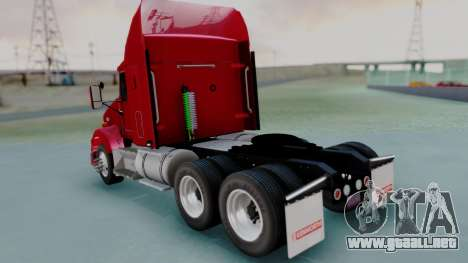 Kenworth T800 38s Austero Flat Top para GTA San Andreas left