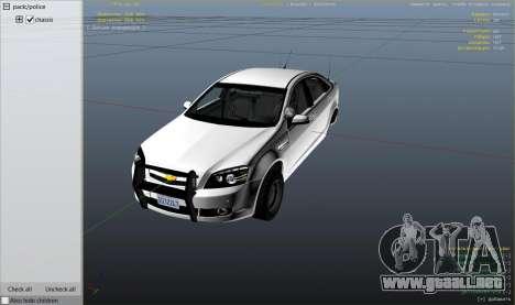 GTA 5 Unmarked Chevrolet Caprice vista lateral derecha