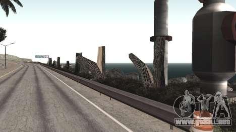 Road repair Los Santos - Las Venturas para GTA San Andreas octavo de pantalla