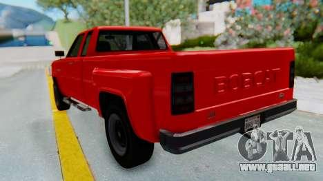 GTA 5 Vapid Bobcat XL para GTA San Andreas vista posterior izquierda