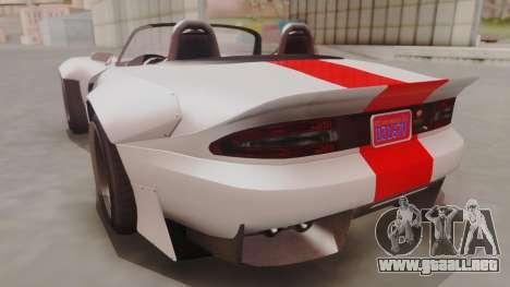GTA 5 Bravado Banshee 900R IVF para GTA San Andreas left