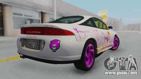 Mitsubishi Eclipse GST Nepgear Itasha para GTA San Andreas left