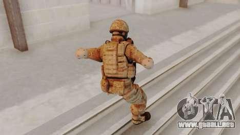 US Army Multicam Soldier Gas Mask from Alpha Pro para GTA San Andreas tercera pantalla