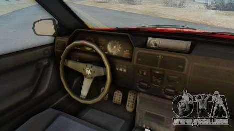 GTA 5 Vulcar Ingot IVF para GTA San Andreas vista hacia atrás