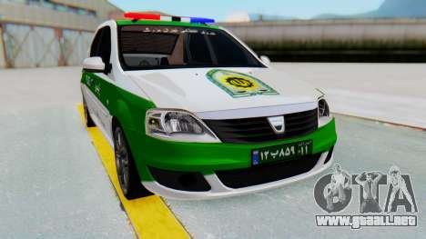 Dacia Logan Iranian Police Naja para la visión correcta GTA San Andreas