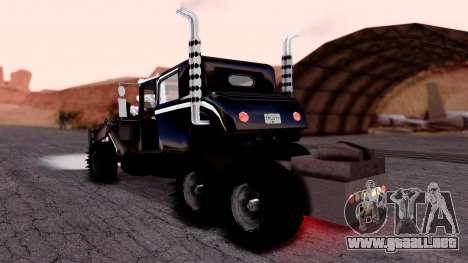 Mad Max The War Rig Bilge Tuning para GTA San Andreas left
