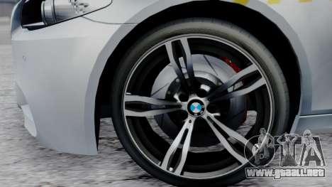 BMW M5 F10 Hungarian Police Car para la visión correcta GTA San Andreas