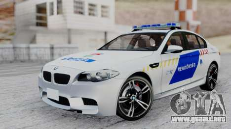 BMW M5 F10 Hungarian Police Car para GTA San Andreas