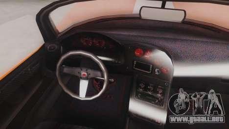 GTA 5 Bravado Banshee 900R para GTA San Andreas vista hacia atrás