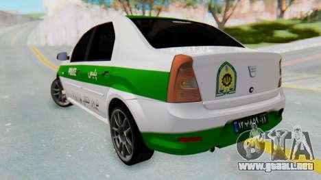 Dacia Logan Iranian Police Naja para GTA San Andreas left